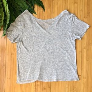 LULULEMON | Grey V Back Tee